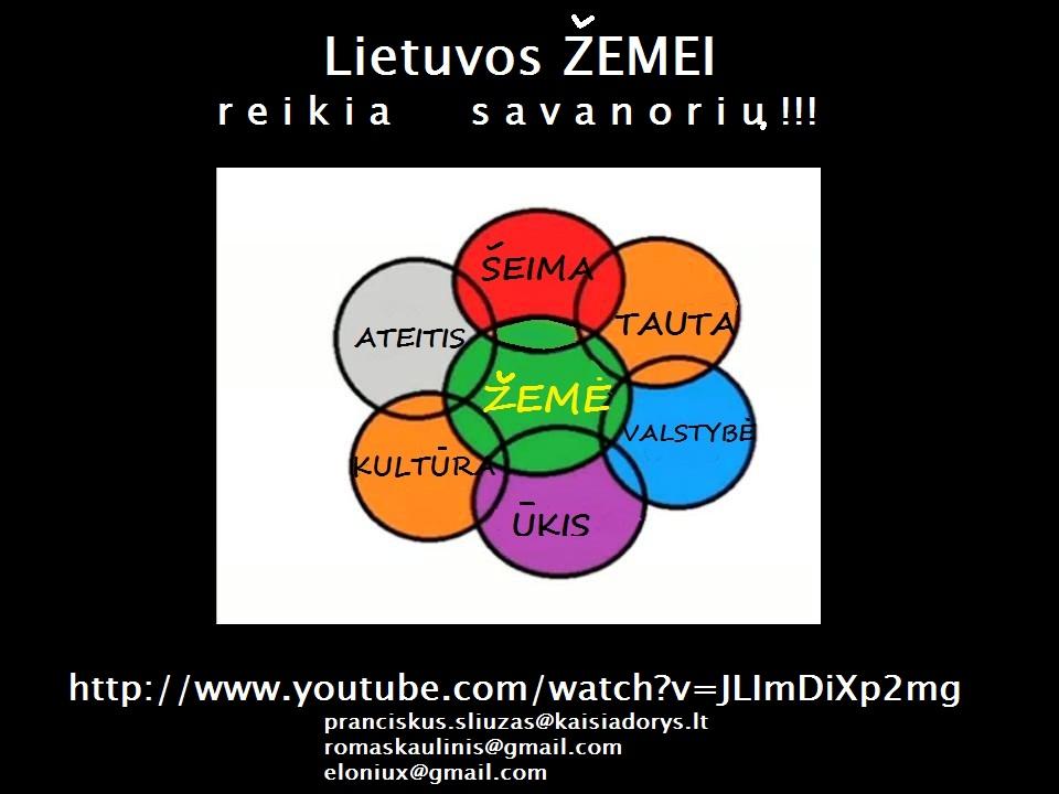 Lietuvos Zemei reikia savanoriu!