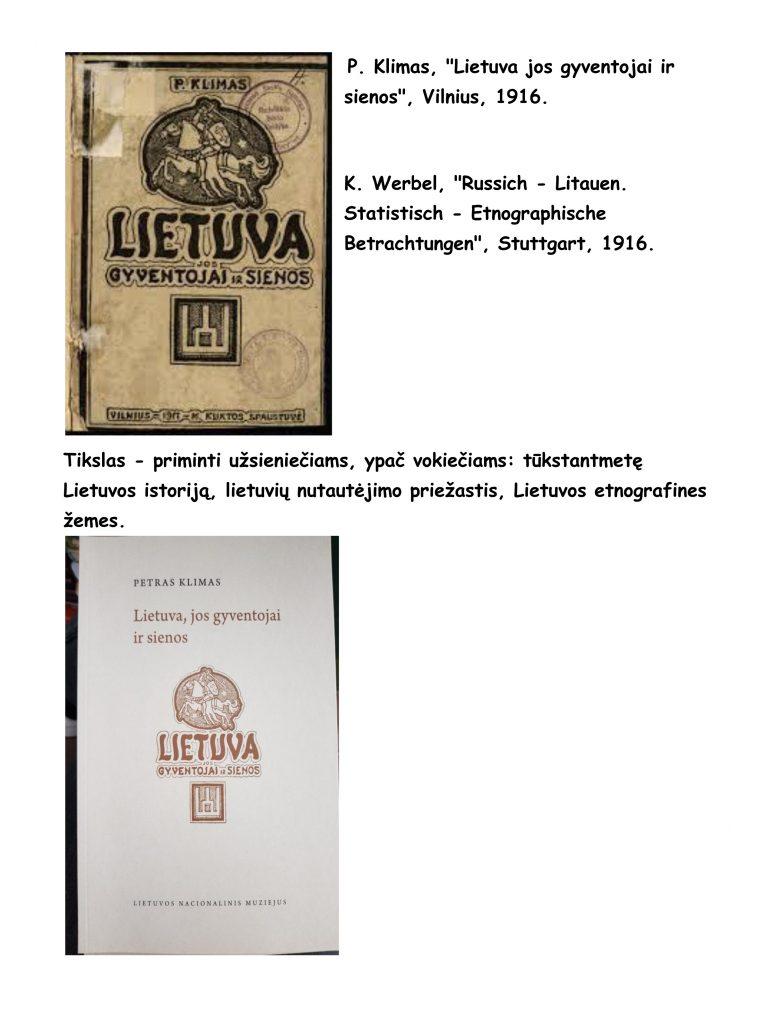 P. Klimo leidinys 1916 m.