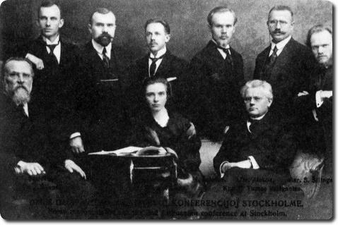 Lietuvių inteligentija Stokholme 1917 m.