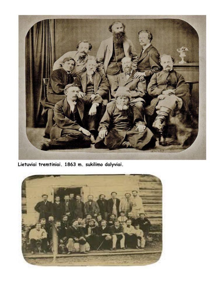 XIX a. sukilimų dalyviai - tremtiniai